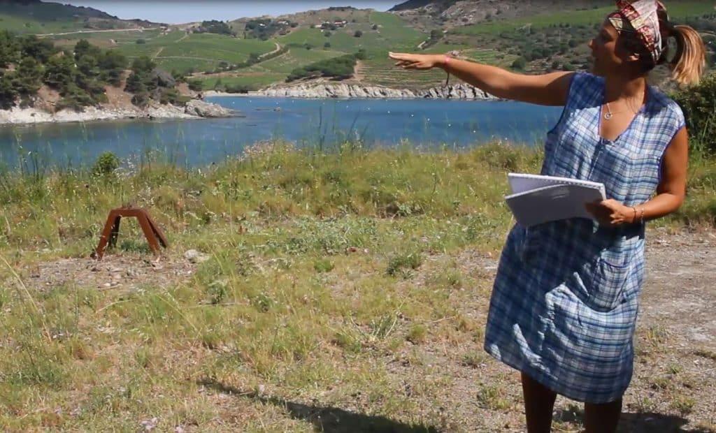 Aline, guide à Paulilles, sur les pas de Jeanne