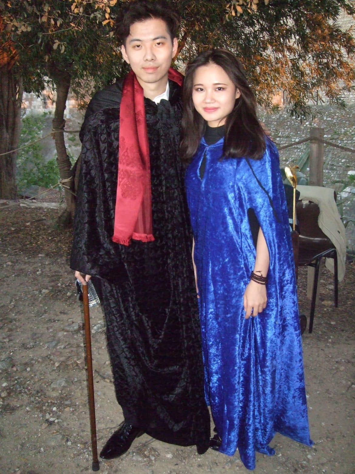 Jiaming Zhang le baryton et une choriste