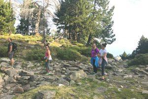 Famille Lessard durant la montée du Canigou