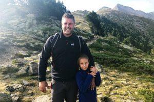 José et Valentine durant la montée du Canigou