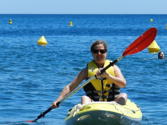 Kayak dans la baie de Paulilles