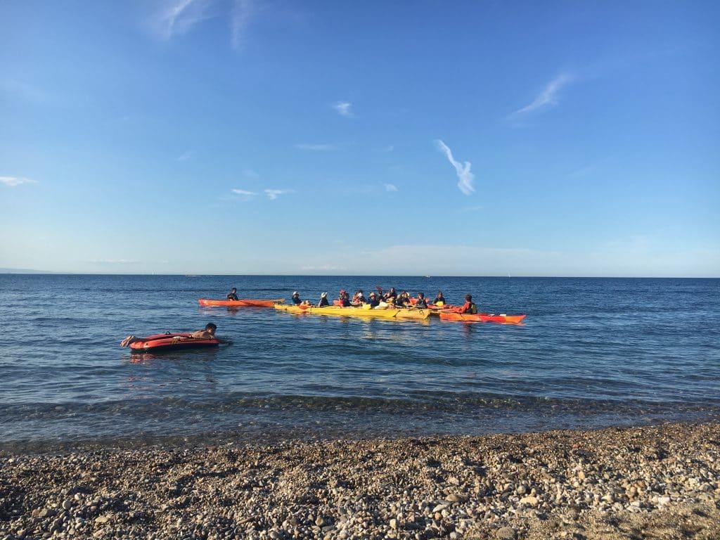Kayak, vu de la plage de l'Ouille