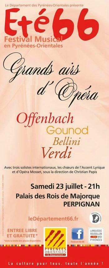 Affiche Grands airs d'Opréra - Nuit enchantée au Palais