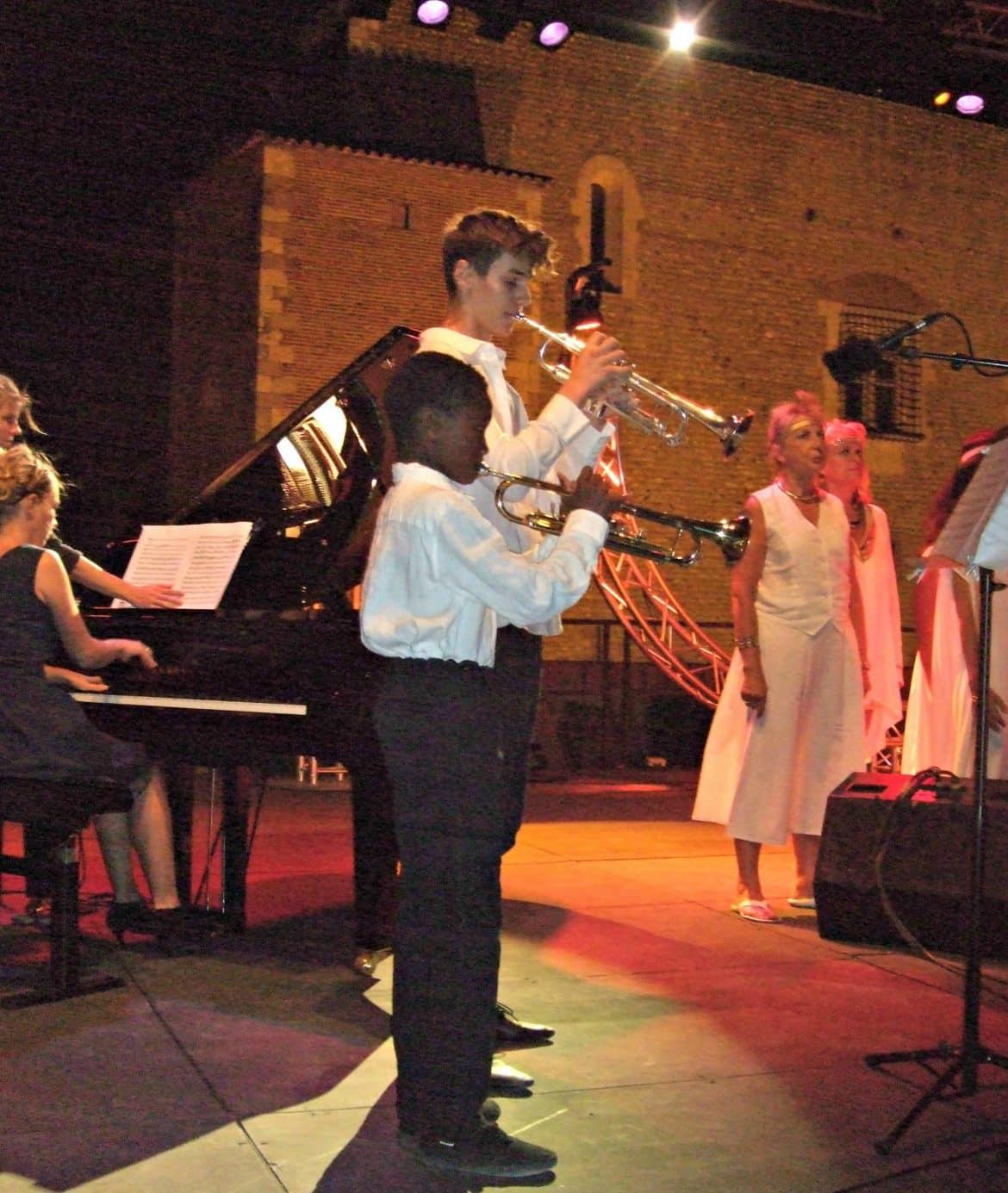 Trompette Spectacle Grands Airs d'Opéra Nuit enchantée au Palais